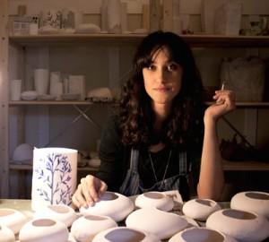 Farah Hernandez in her studio in Cape Town