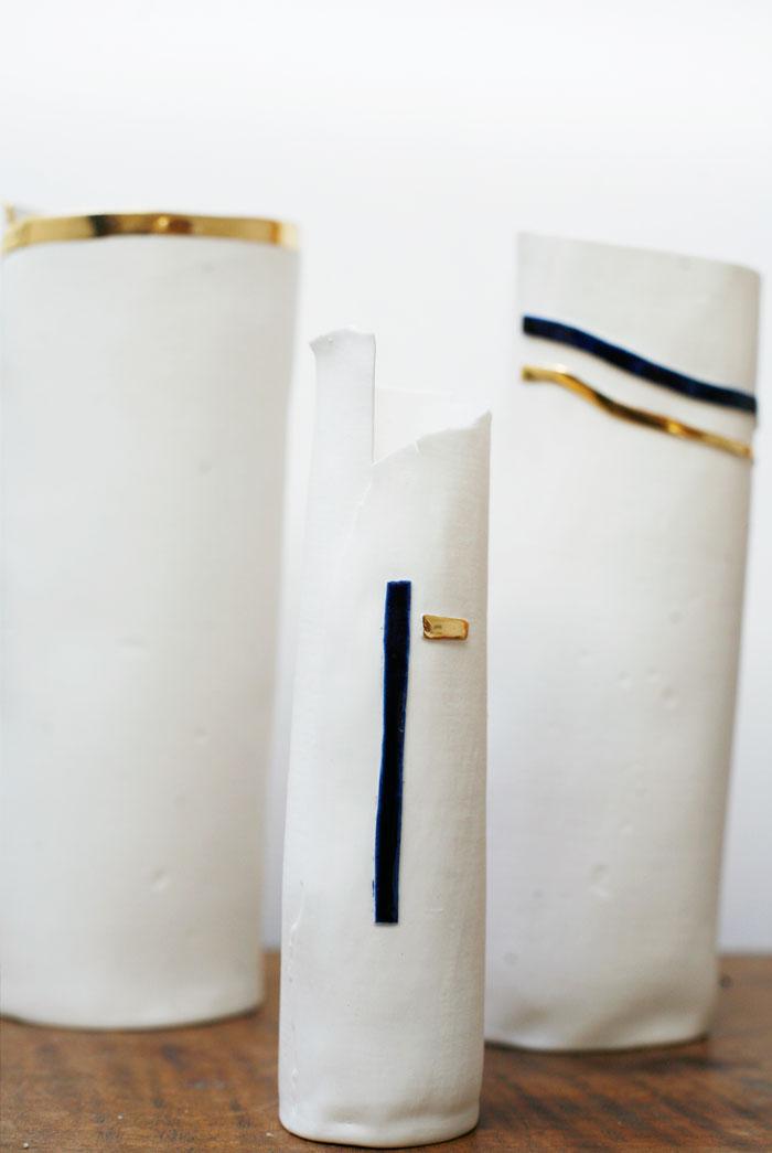 Gold Tip Vases